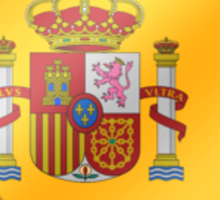 Spanish Flag - Spain - Heart Sticker