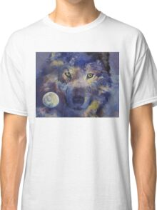 Grey Wolf Moon Classic T-Shirt