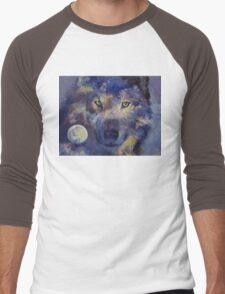 Grey Wolf Moon Men's Baseball ¾ T-Shirt