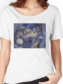 Grey Wolf Moon Women's Relaxed Fit T-Shirt