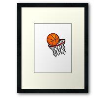 I Don't Play Basketball #2 (Black) Framed Print