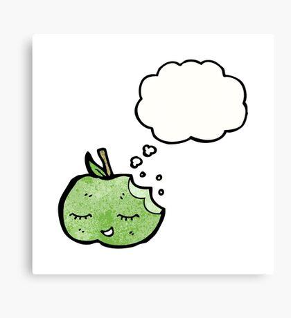 cartoon apple Canvas Print