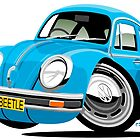 VW Beetle blue by car2oonz