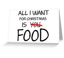 Christmas, Food, Funny, Hungry Greeting Card