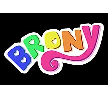 Brony Logo - Rainbow Photographic Print