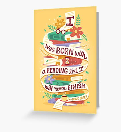 Reading list Greeting Card