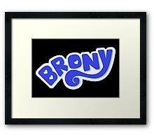 Brony Logo - Blue Framed Print