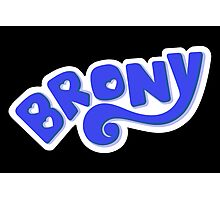 Brony Logo - Blue Photographic Print
