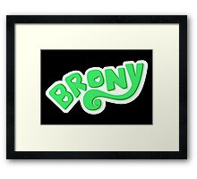 Brony Logo - Green Framed Print