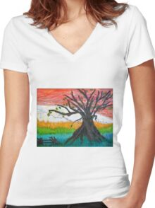 Dancing Together ~~ Loving Forever Women's Fitted V-Neck T-Shirt