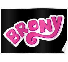 Brony Logo - Pink Poster
