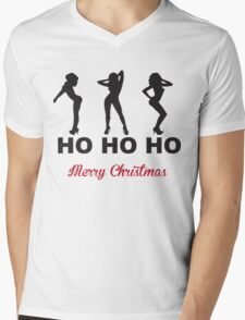 HO HO HO, Christmas Mens V-Neck T-Shirt