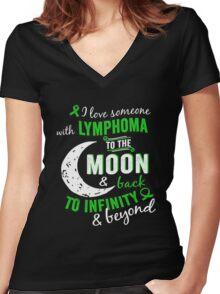 Lymphoma Awareness - Lymphoma Shirt For Women/Men Women's Fitted V-Neck T-Shirt