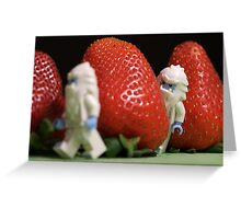 Hide n' Seek in the Strawberry Forest Greeting Card