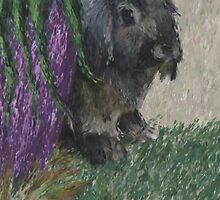 Lop Eared Rabbit Painting by pepsirat