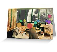 Bar with a view (without frame). Greeting Card