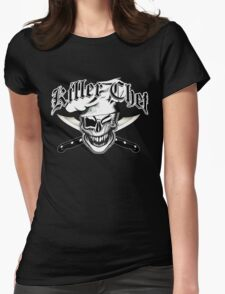 Chef Skull 7: Killer Chef Womens Fitted T-Shirt