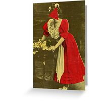 Woman in Red. Greeting Card