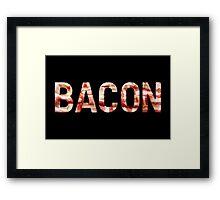 Bacon - Glass Lettering - Woven Strips Photograph Framed Print