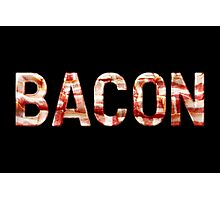 Bacon - Glass Lettering - Woven Strips Photograph Photographic Print