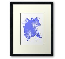 fresh air expanse, in sky blue Framed Print