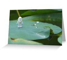 Yeti on a Lily pad Greeting Card