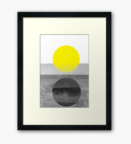 Yellow #abstract  Framed Print