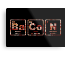 Bacon - Periodic Table - Photograph Metal Print