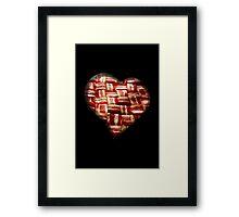 Bacon - Heart - Woven Strips Framed Print