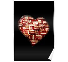 Bacon - Heart - Woven Strips Poster