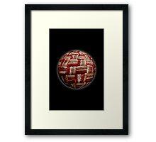 Bacon-Wrapped Football Soccer Ball 2 Framed Print