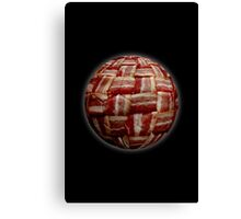 Bacon-Wrapped Football Soccer Ball 2 Canvas Print