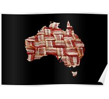 Australia - Australian Bacon Map - Woven Strips Poster