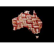 Australia - Australian Bacon Map - Woven Strips Photographic Print