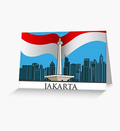 The capital city of Jakarta Greeting Card