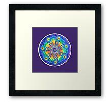 Infinite Universe mandala Framed Print