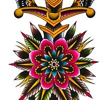 Flower Eagle Dagger by raleighstewart