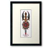 Flower Eagle Dagger Framed Print