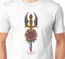 Flower Eagle Dagger Unisex T-Shirt