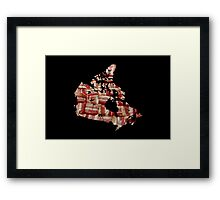 Canada - Canadian Bacon Map - Woven Strips Framed Print