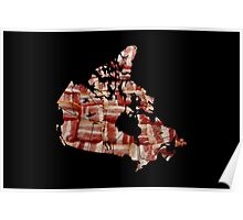 Canada - Canadian Bacon Map - Woven Strips Poster