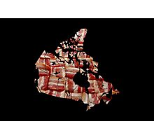 Canada - Canadian Bacon Map - Woven Strips Photographic Print