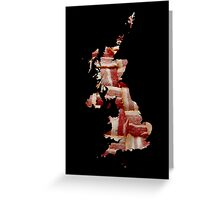 United Kingdom - British Bacon Map - Woven Strips Greeting Card