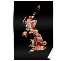 United Kingdom - British Bacon Map - Woven Strips Poster