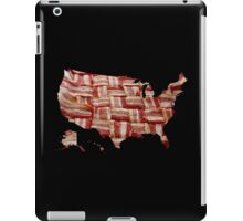 USA - American Bacon Map - Woven Strips iPad Case/Skin