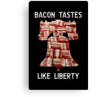 Bacon Tastes Like Liberty - Bell - United States of America Canvas Print