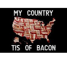 My Country Tis Of Bacon - USA - American Bacon Map Photographic Print