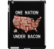 One Nation Under Bacon - USA - American Bacon Map iPad Case/Skin