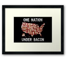 One Nation Under Bacon - USA - American Bacon Map Framed Print
