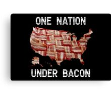 One Nation Under Bacon - USA - American Bacon Map Canvas Print